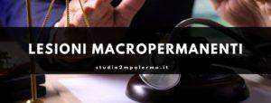calcolo del danno biologico - lesioni macropermanenti - studio 2m palermo
